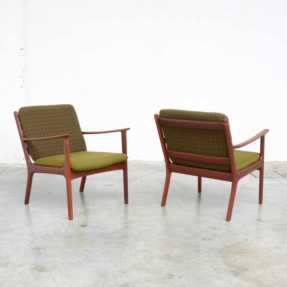 Pair of Armchairs by Ole Wanscher for Poul Jeppesen