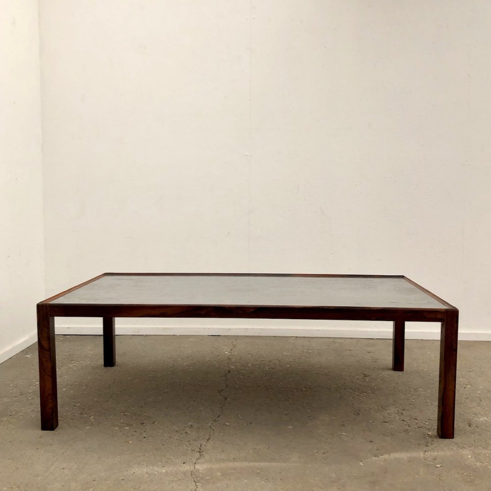 Large etched coffee table by Lilienthal, 1970s