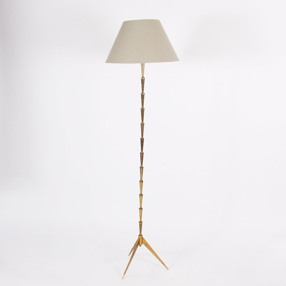 Futuristic Brass Floor Lamp
