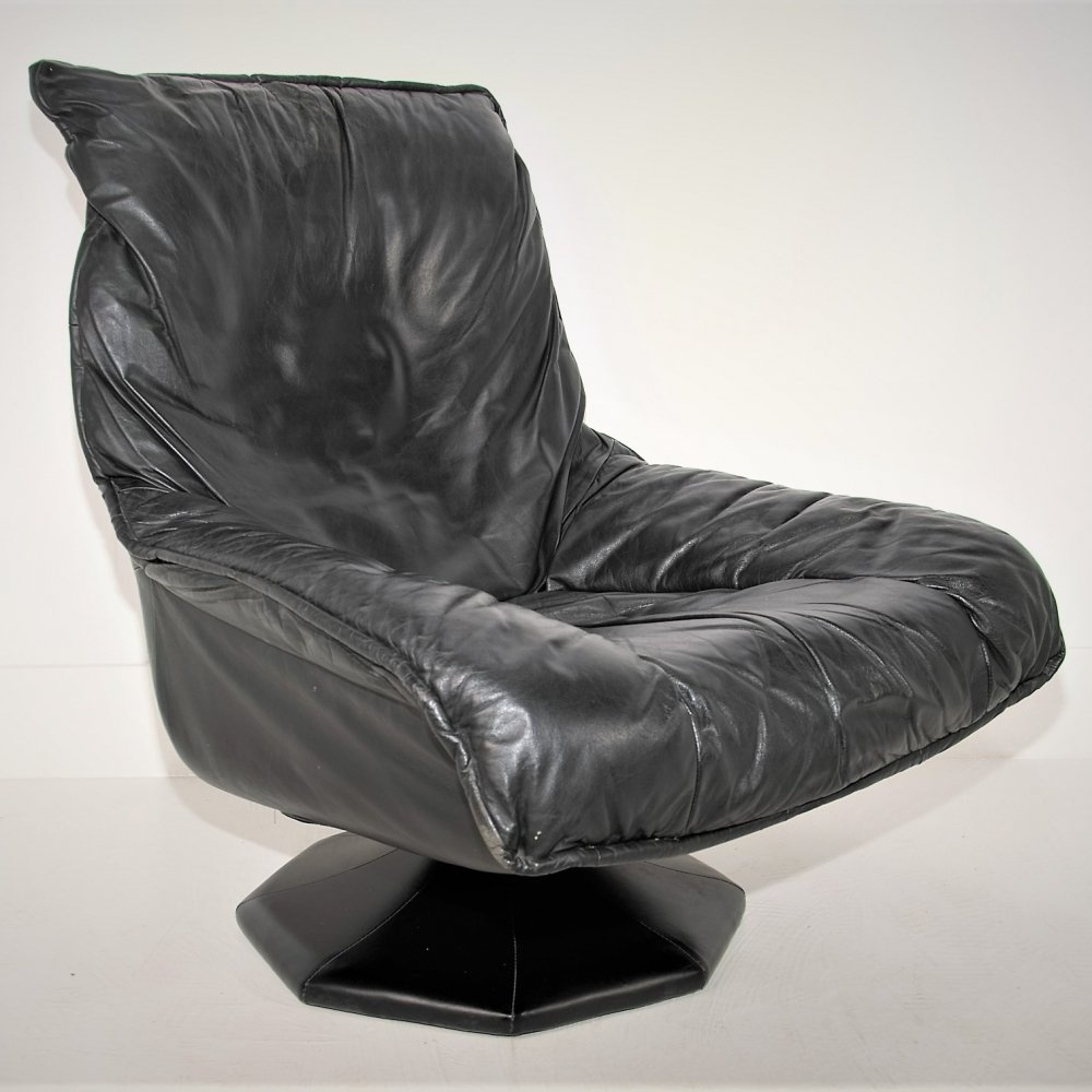 Leather Relax lounge chair, 1970s
