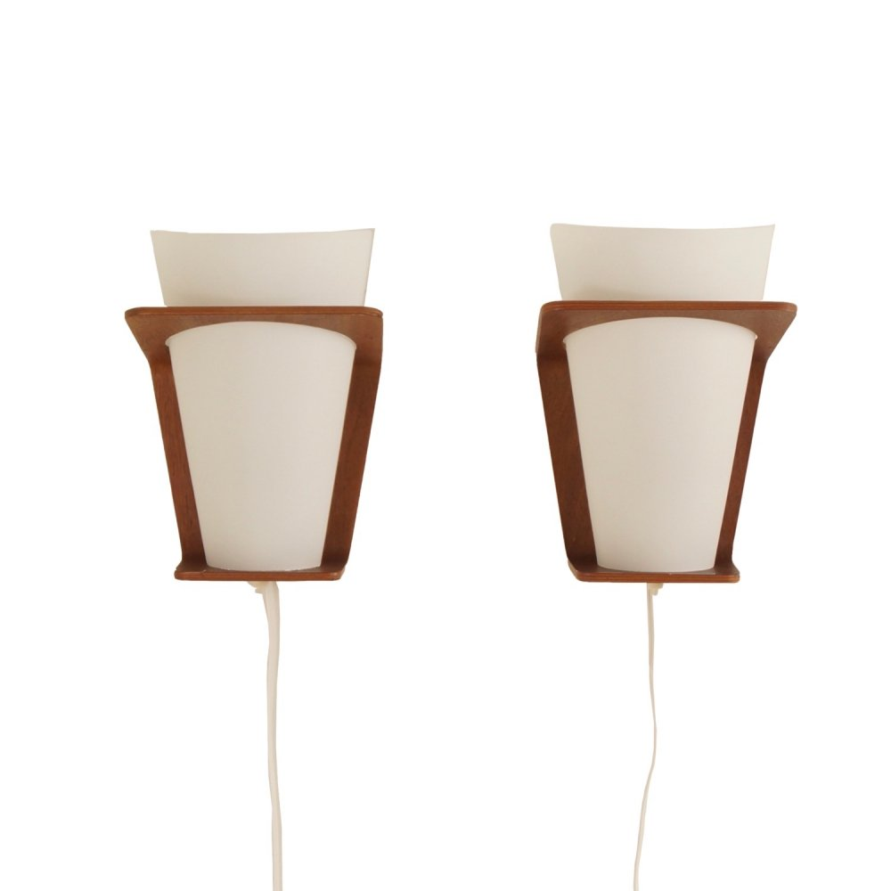 Pair of NX41 Wall Lamps by Louis Kalff for Philips, 1960s