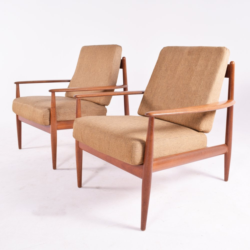 Pair of Grete Jalk Armchairs by France & Son, 1960s