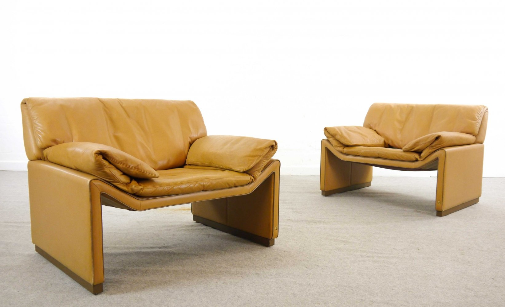 Pair of Etienne Aigner lounge chairs, 1980s
