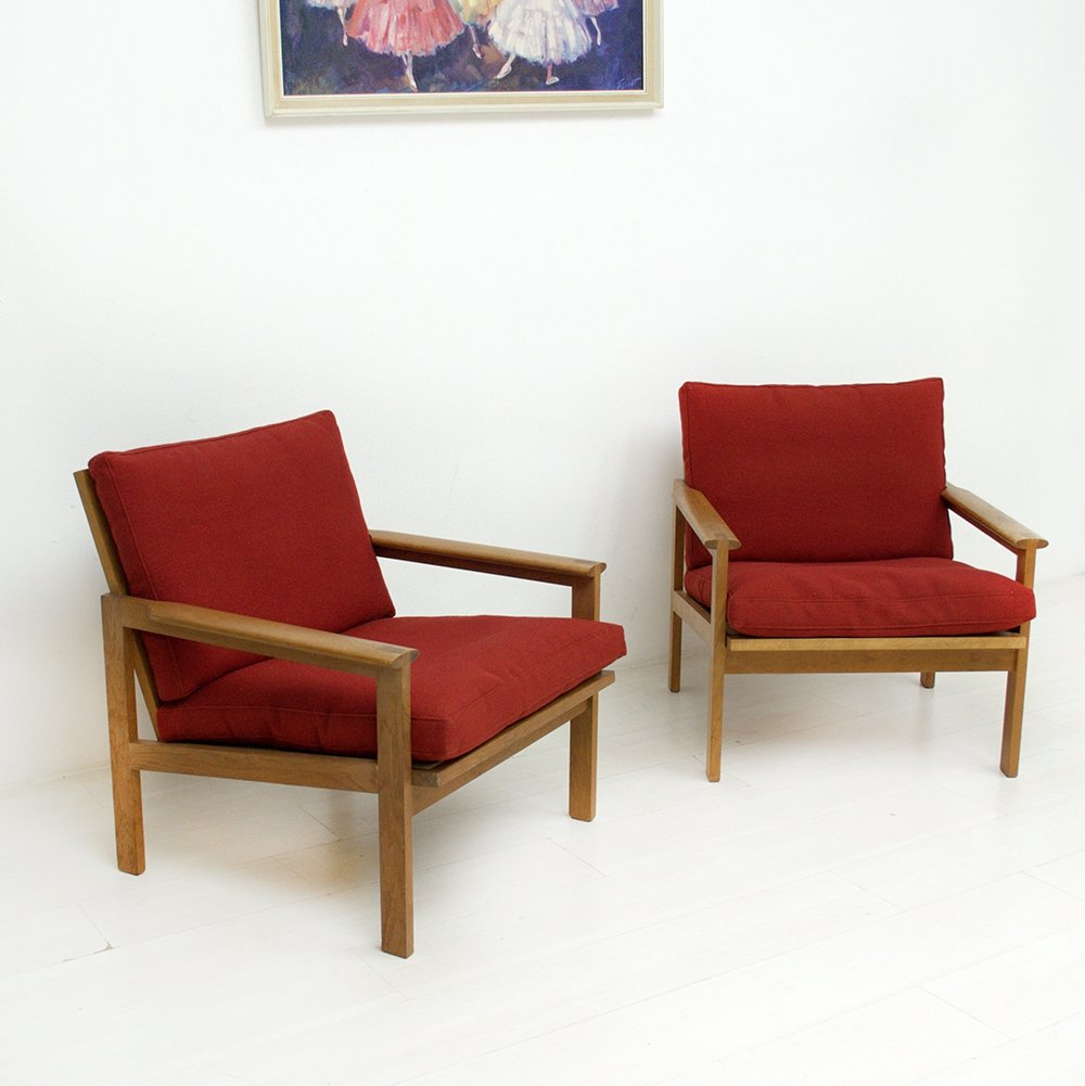 Set of 2 Illum Wikkelsø chairs, 1970s