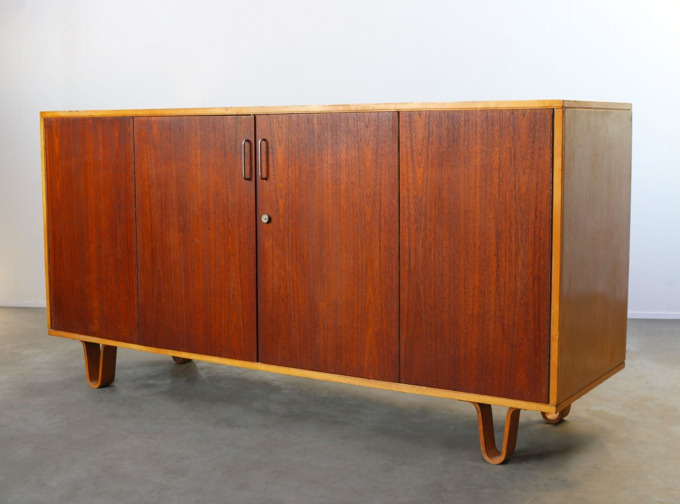 Sideboard DB02 in teak & birch by Cees Braakman for Pastoe, 1950