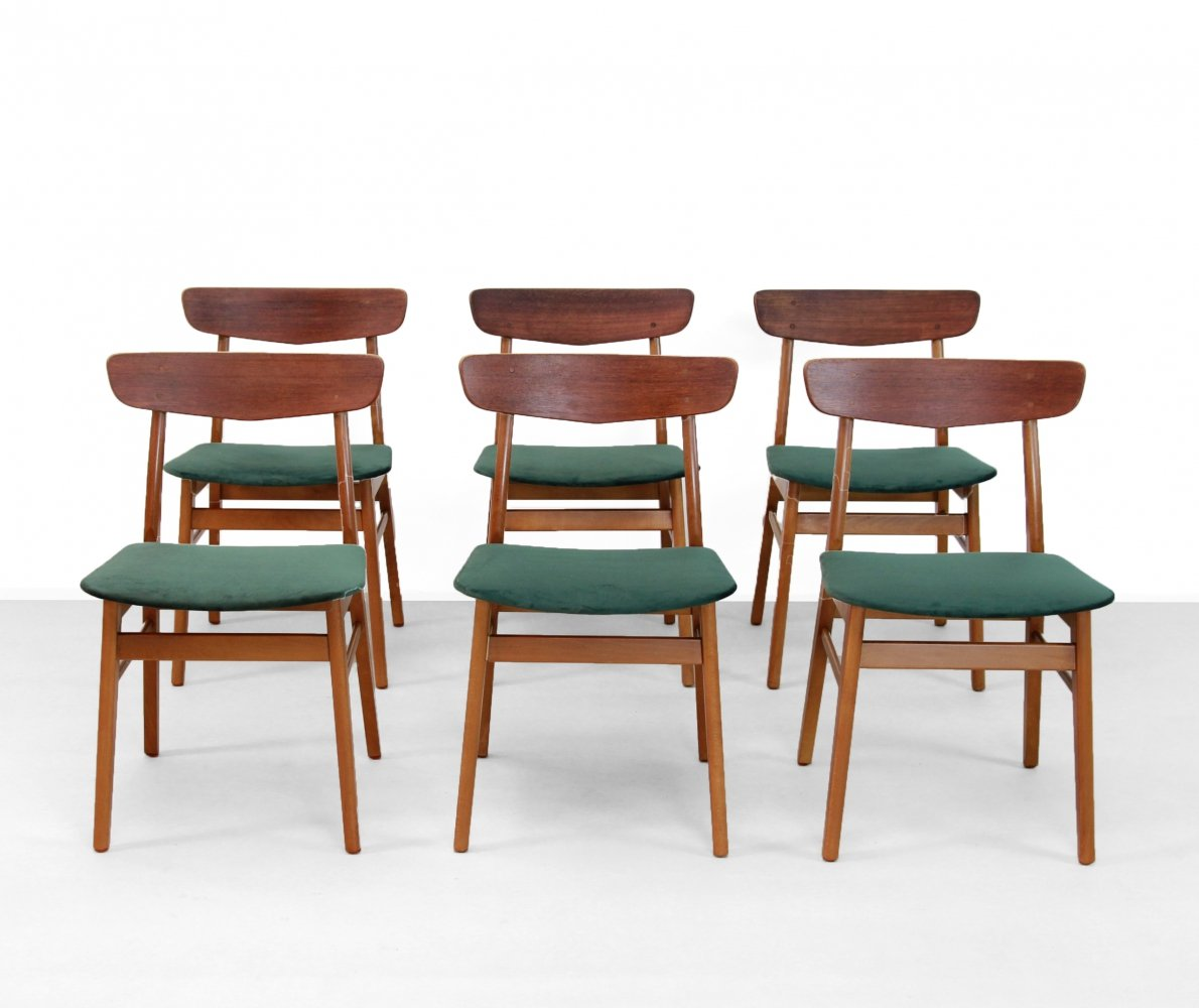 Set of 6 Farstrup Møbler dining chairs, 1960s