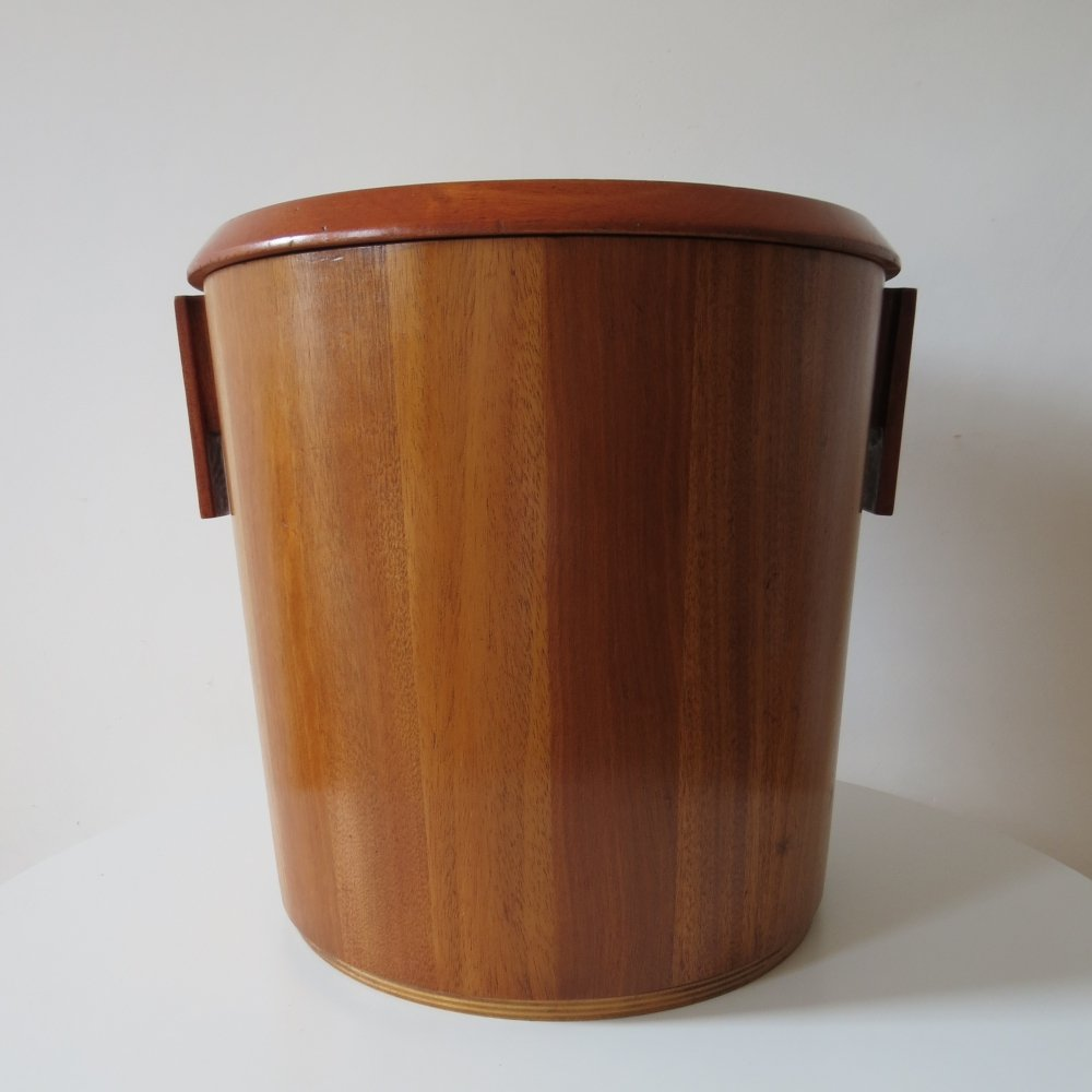 1950s Mahogany lidded Bin by Drummond Woodware Scotland