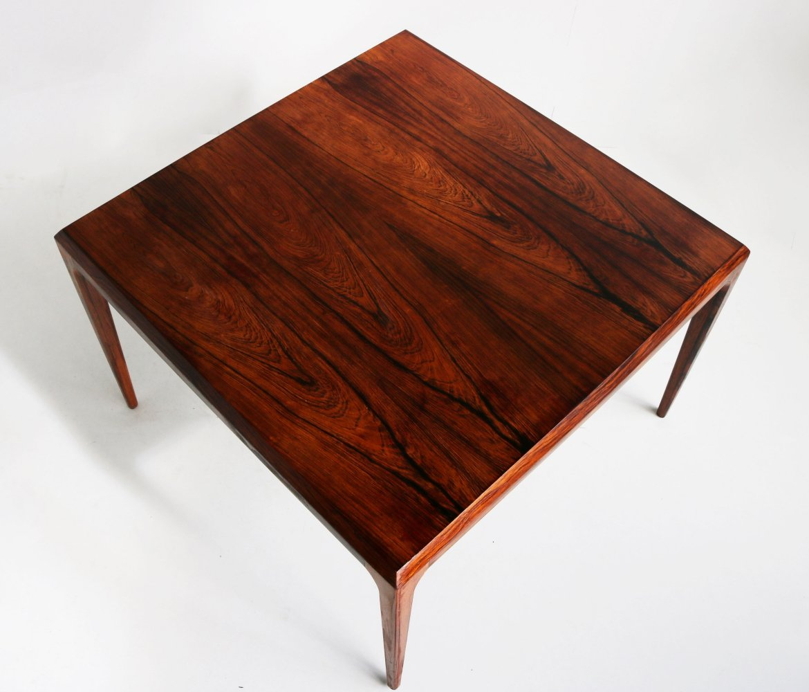 Danish rosewood coffee table by Johannes Andersen for CFC Silkeborg, 1950
