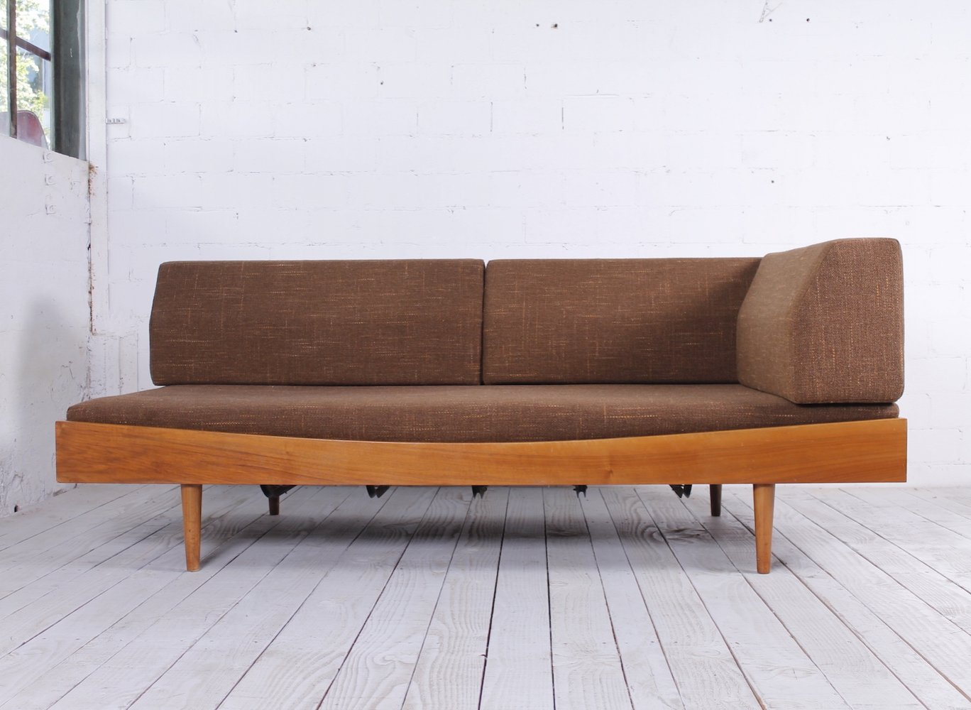 Vintage German Daybed with loose backrests, 1960s