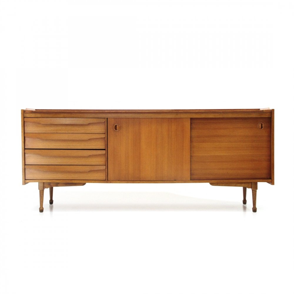 Midcentury wooden Italian sideboard with drawers, 1960s