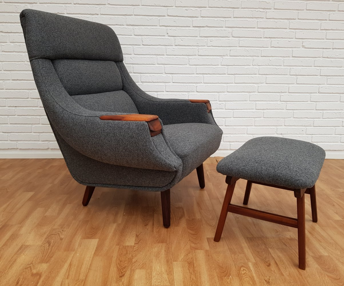 Danish lounge chair by Henry Walter Klein for Bramin, 60s