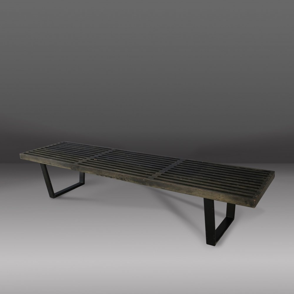 Bench in maple wood by George Nelson, 1950s