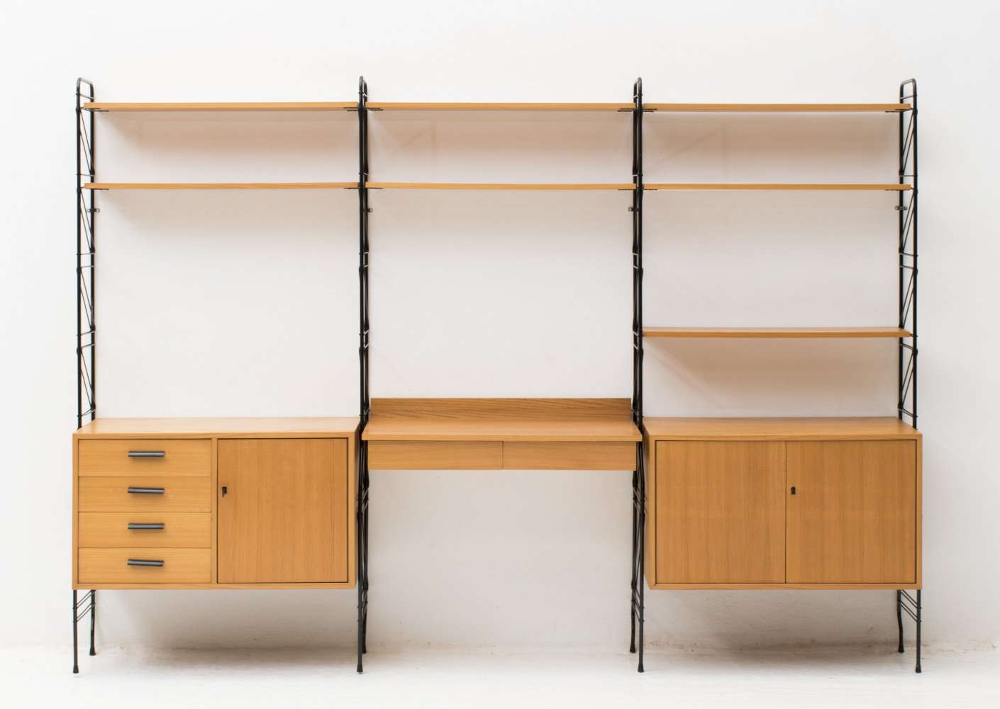 3-piece standing Wall Unit by Erbus Möbler, Germany 1960s