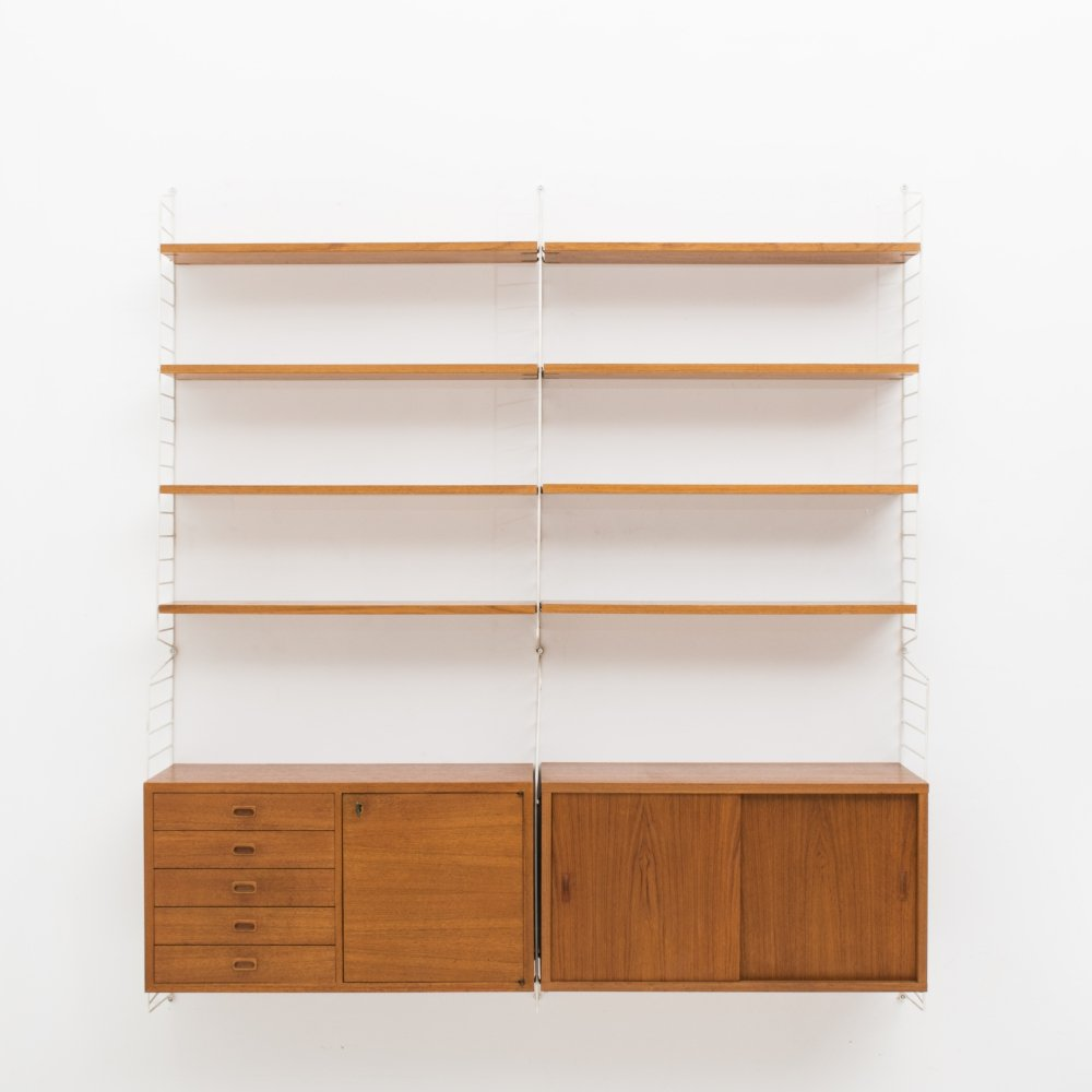 2-piece wall unit by Nisse Strinning for String, Sweden 1950s