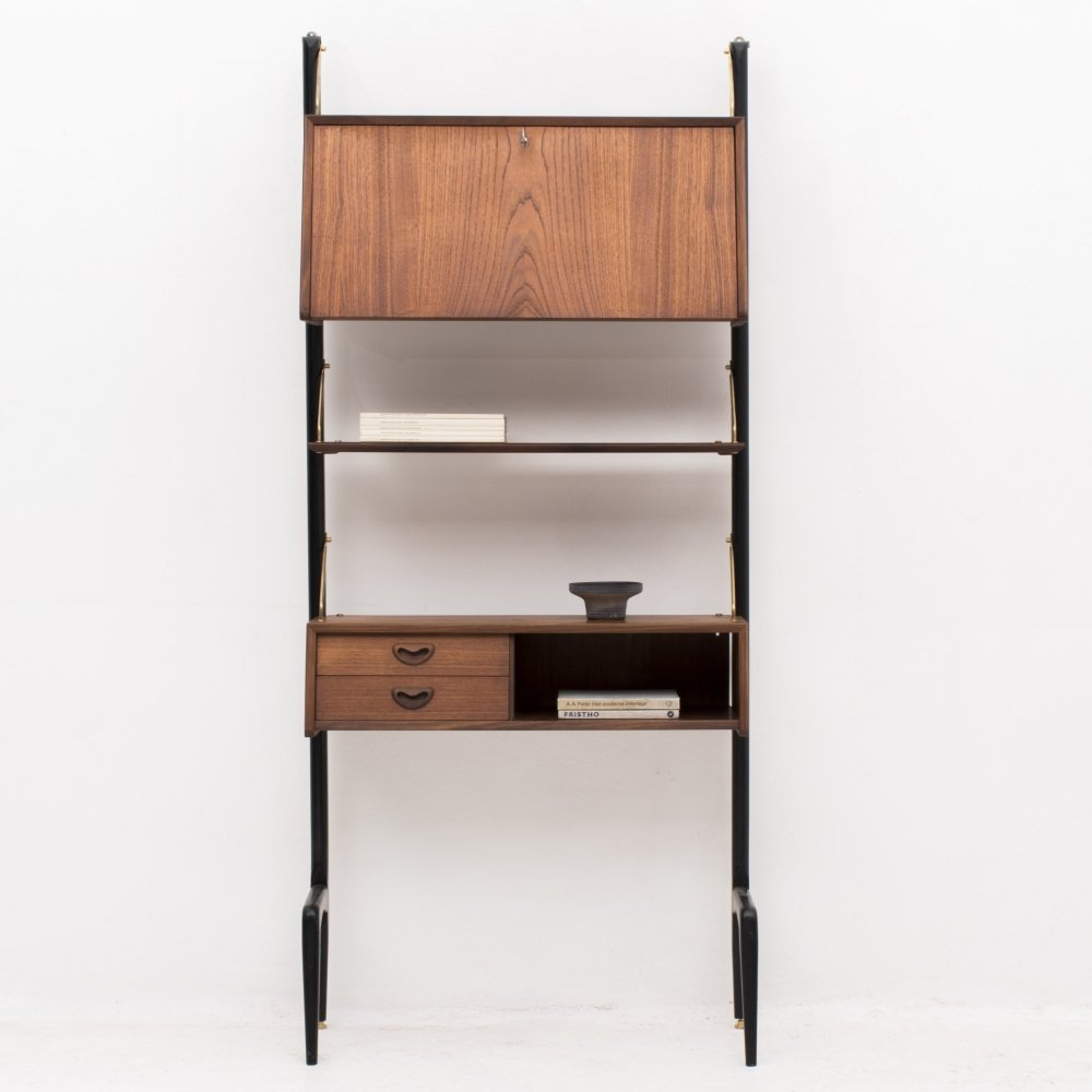 1-piece wall unit by Louis van Teeffelen for Wébé, Dutch design 1950