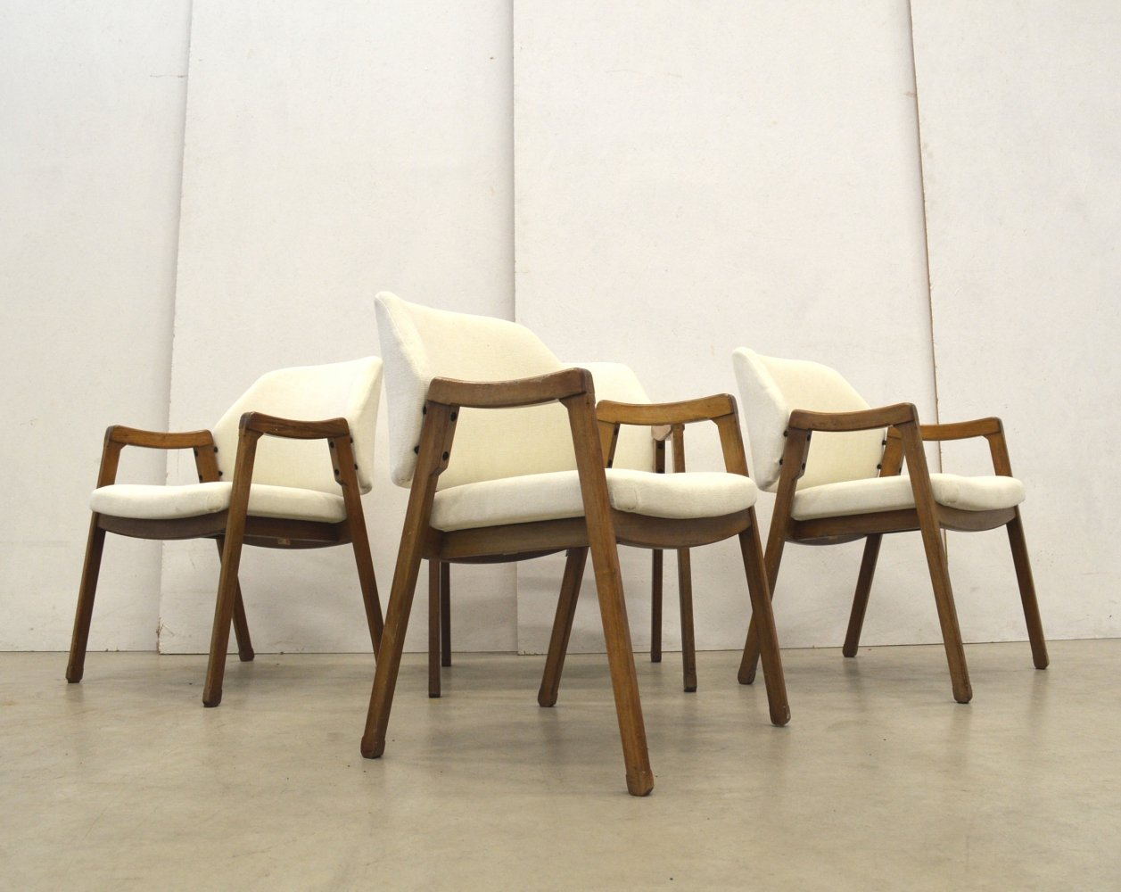 Set of 4 model 814 arm chairs by Ico Parisi for Cassina, 1960s