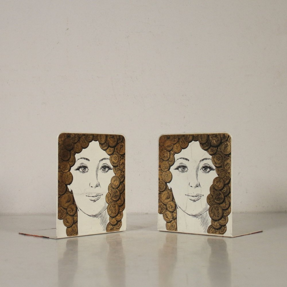 Pair of 1960s Vintage Bookends by Piero Fornasetti