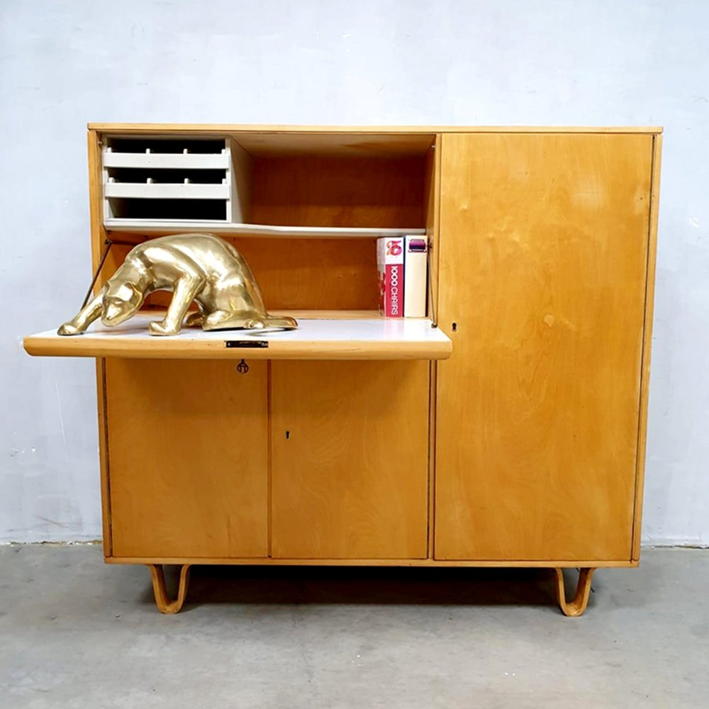 Vintage CB01 cabinet secretaire by Cees Braakman for Pastoe, 1950s