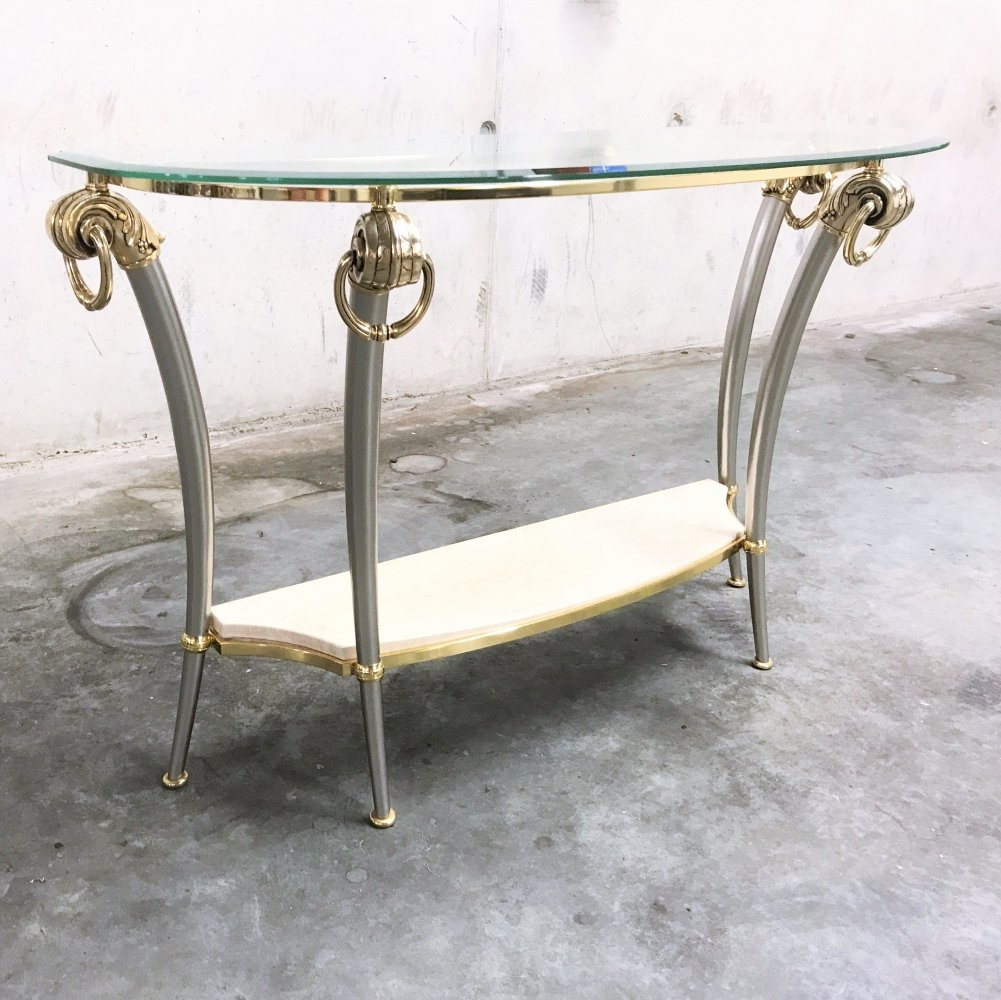 Hollywood regency console table, 1970s