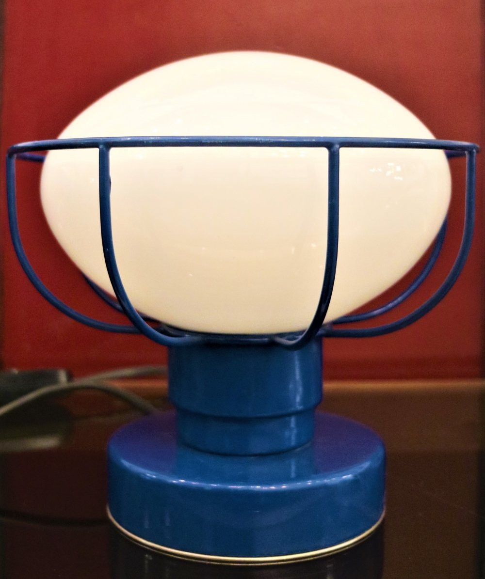 Blue table lamp, 1970s