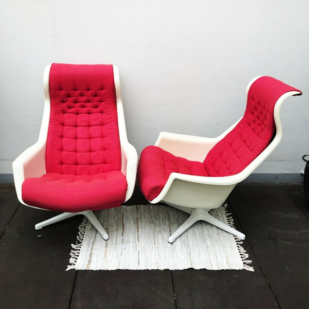 2 x Galaxy lounge chair by Alf Svensson & Yngvar Sandström for Dux, 1970s