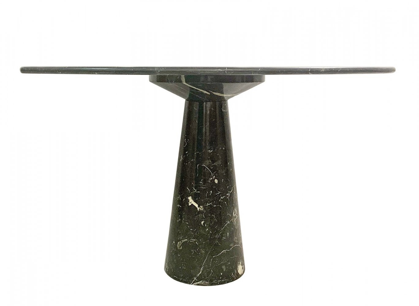 Round Marble Dining Table by Angelo Mangiarotti, 1970s