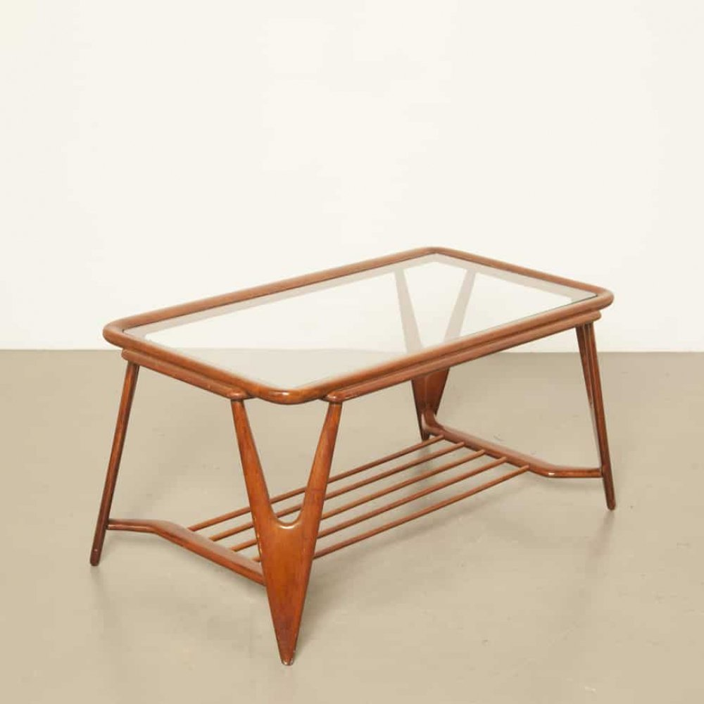 Walnut Coffee table by Cesare Lacca for Cassina