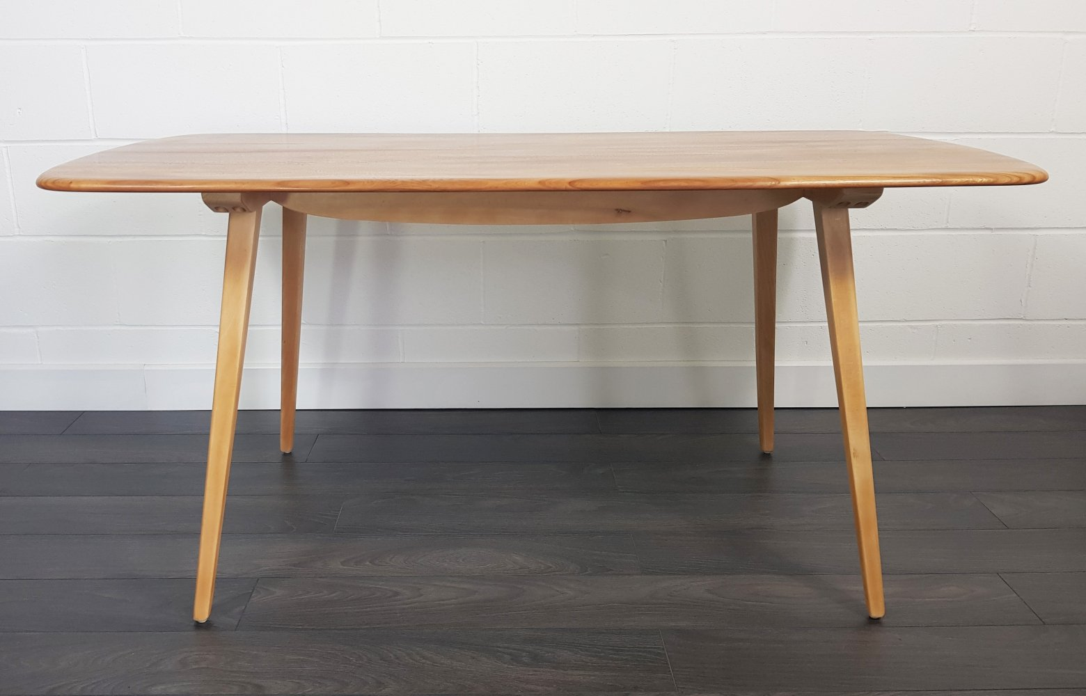 Ercol Mid Century Plank Dining Table, 1960s