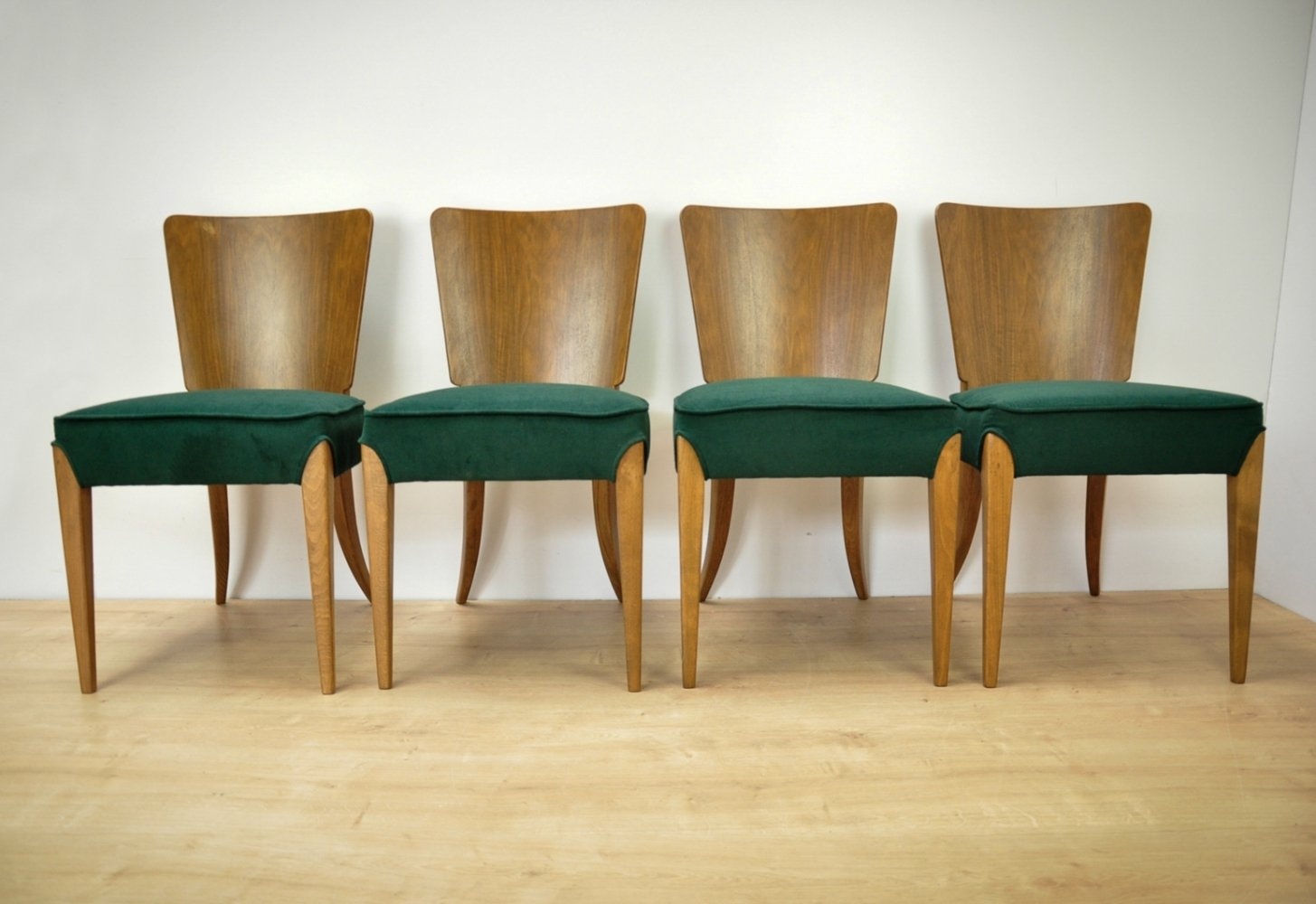 Set of 4 Dining Chairs by Jindřich Halabala for UP Zavody, 1950s
