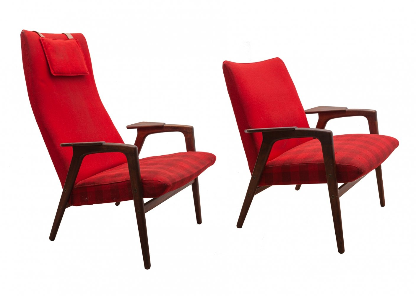 Set of one high back & one low easy chair by Yngve Ekström for Pastoe