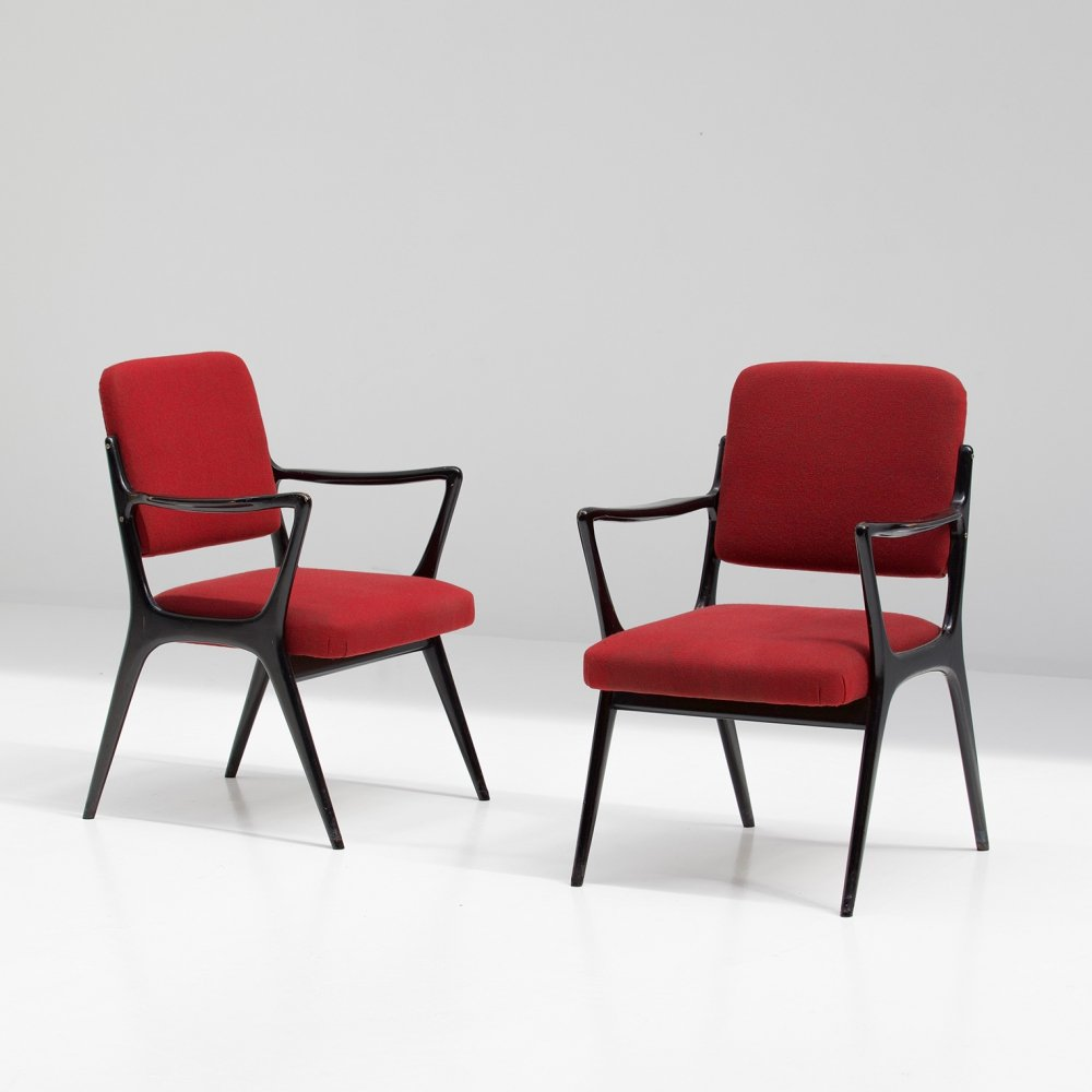 Pair of side or dining armchairs by Alfred Hendrickx for Belform, 1950s