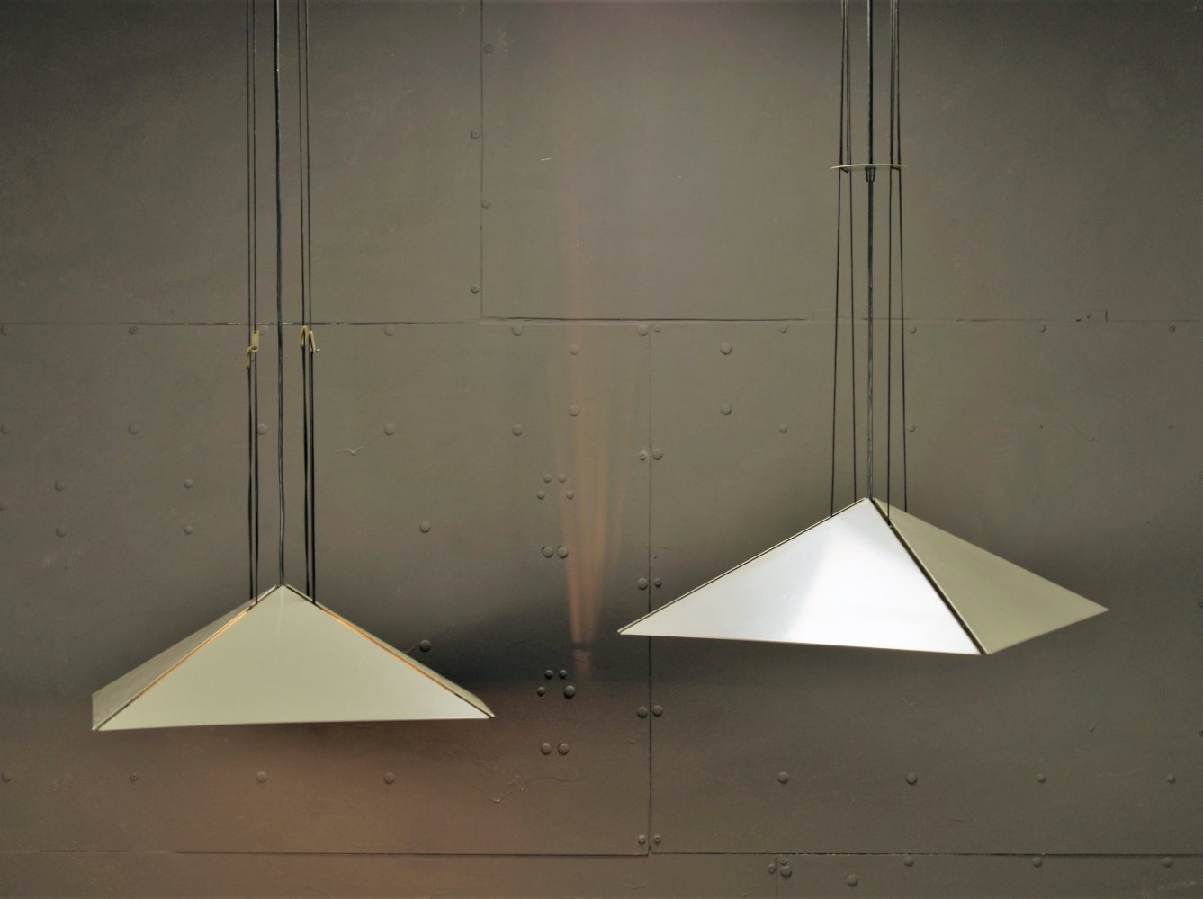 Pair of hanging lamps by Rodney Kinsman for Bieffeplast, 1970s