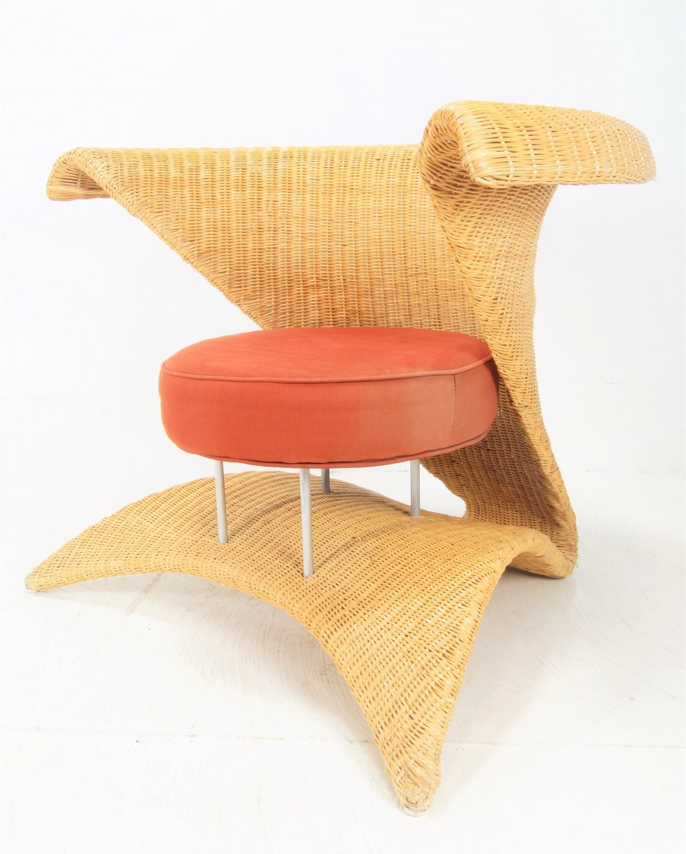 Exclusive Rattan arm chair, 1970s