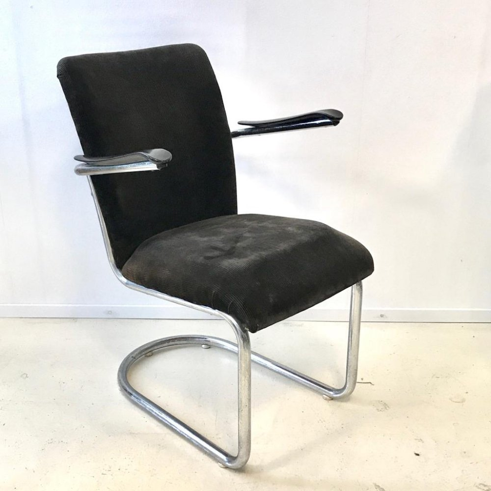 Set of 4 Model 1019 arm chairs by Toon De Wit for De Wit, 1950s