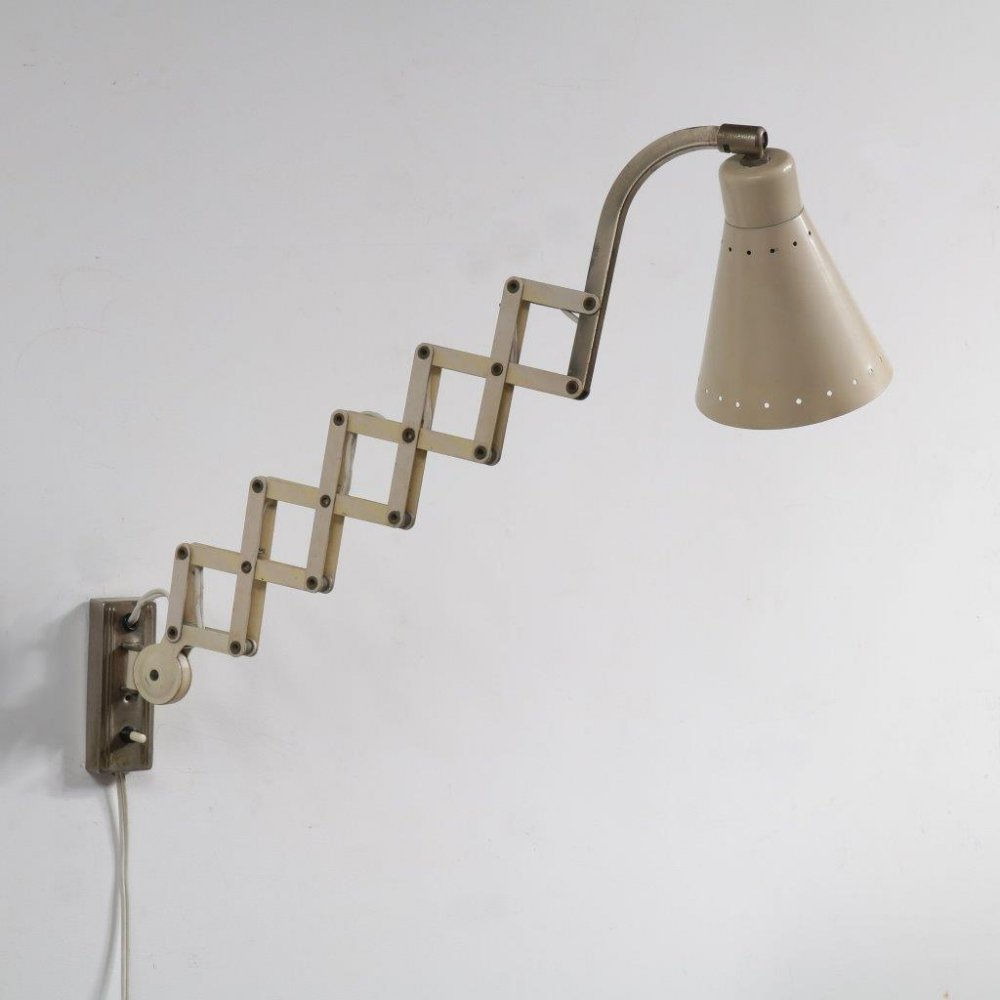Scissor lamp by Hala, the Netherlands 1950s