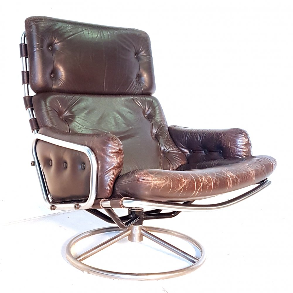 Rare model SZ19 Tanabe swivel chair by Martin Visser for Spectrum, The Netherlands 1960s