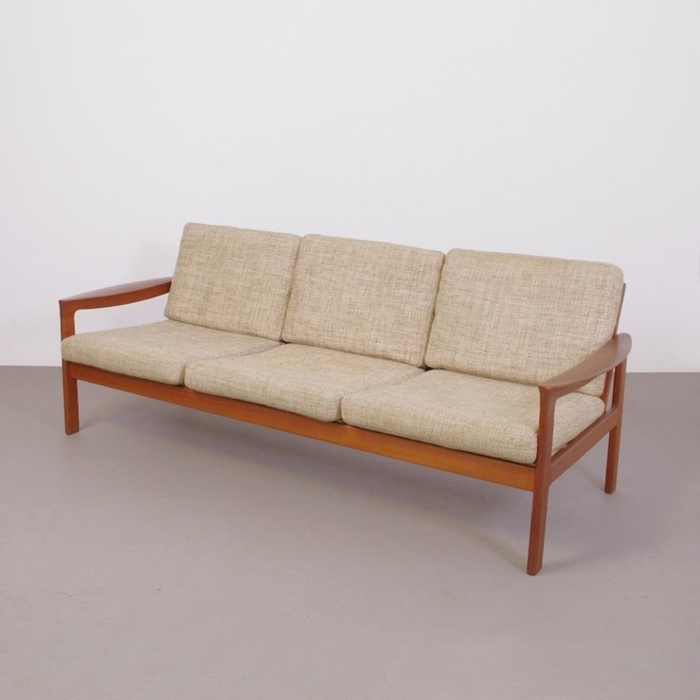 Excellent Danish Teak Wooden 3 Seater Sofa By Komfort 1960S Evergreenethics Interior Chair Design Evergreenethicsorg