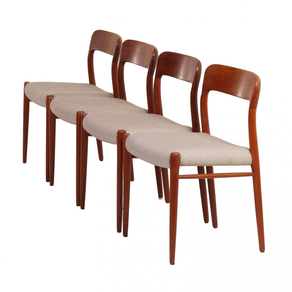 Set Danish Dining Chairs by Niels Otto Moller for JL Møller, 1950s
