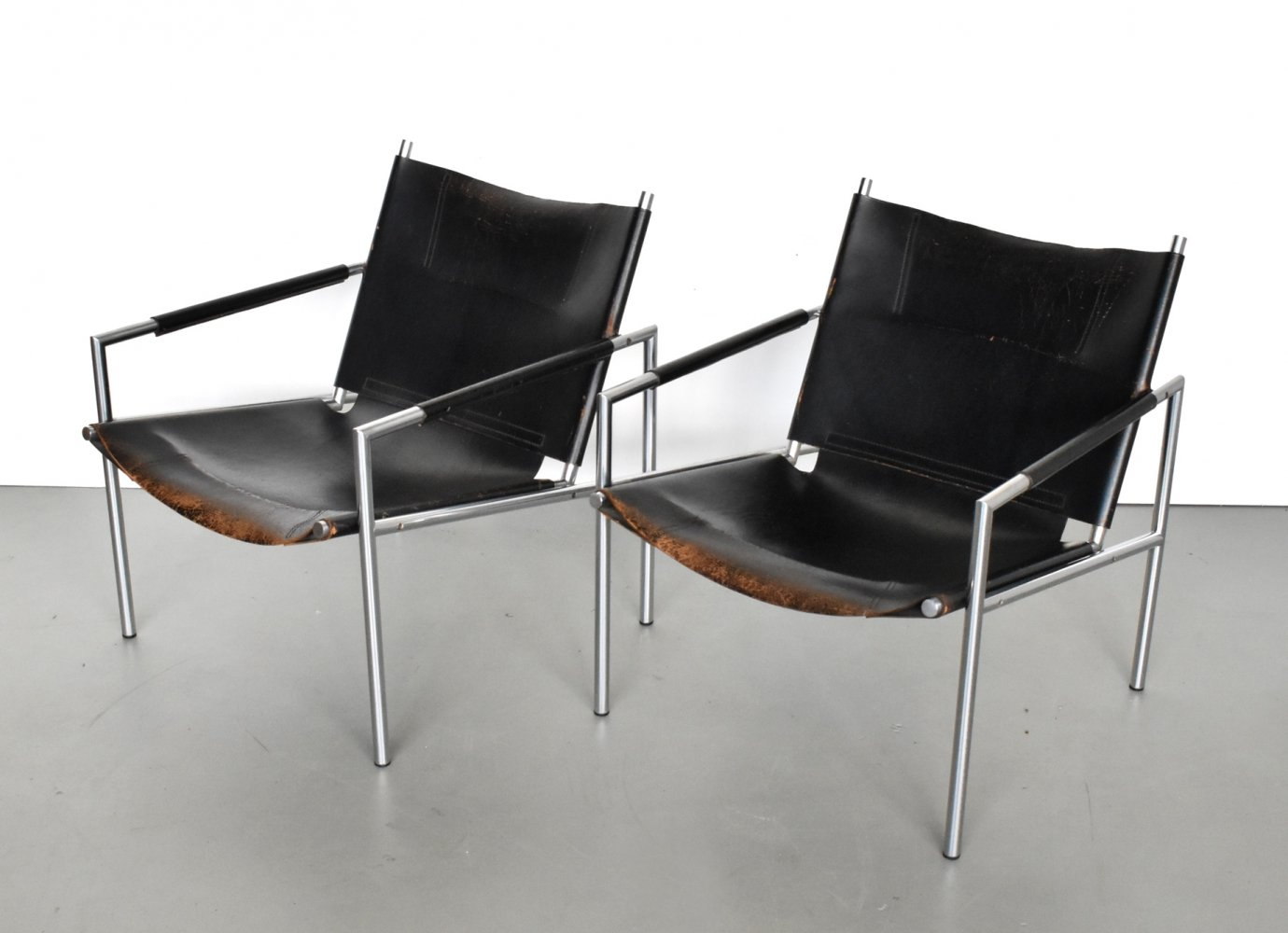 Pair of SZ02 lounge chairs by Martin Visser for Spectrum, 1960s