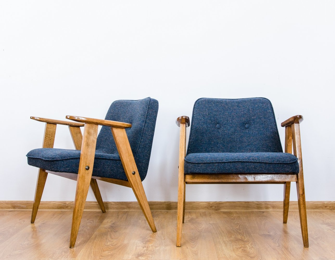Pair of model 366 arm chairs by Jozef Marian Chierowski, 1960s