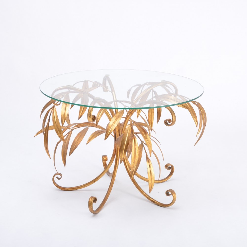Mid-Century Golden Palm Tree Side Table by Hans Kögl, 1960s