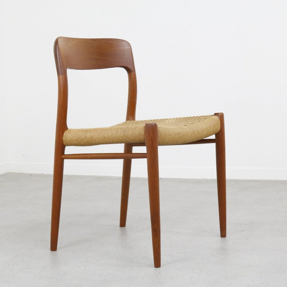 Model 75 dining chair by Niels Otto Møller for JL Møllers Møbelfabrik, 1960s