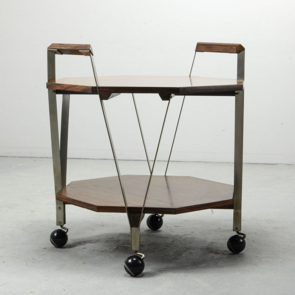 Italian Design Two Level Serving Trolley by Ico Parisi for Stildomus Milan, 1959
