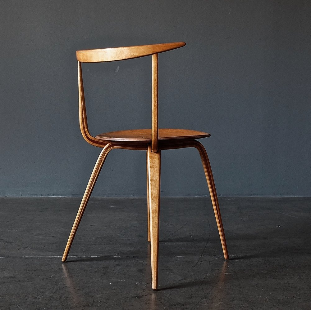 Bentwood or Laminated Chair No. 5891 (Pretzel Chair) by George Nelson for Plycraft
