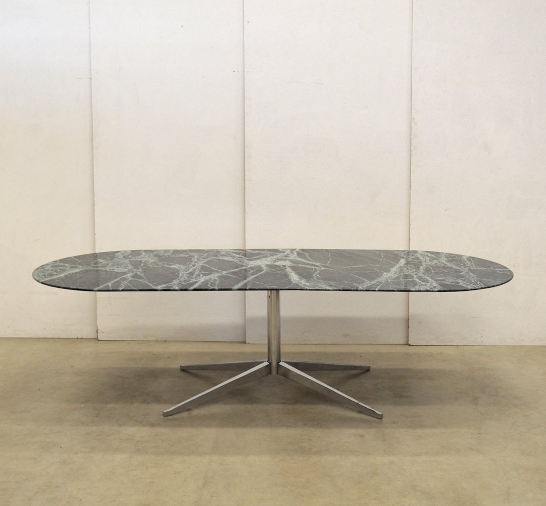 Very Rare Green Marble Dining Table by Florence Knoll, 1960s