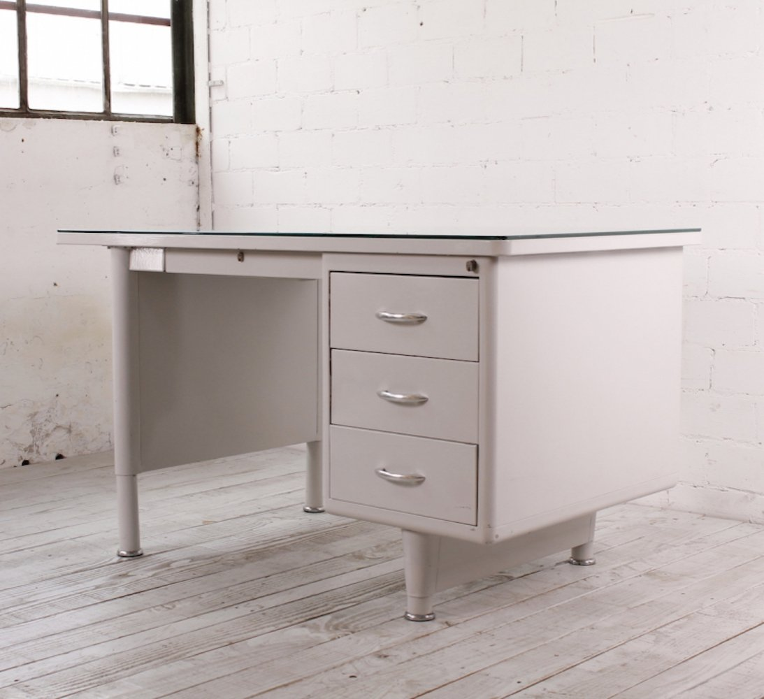 Bauhaus Metal Desk by Mauser, 1950s