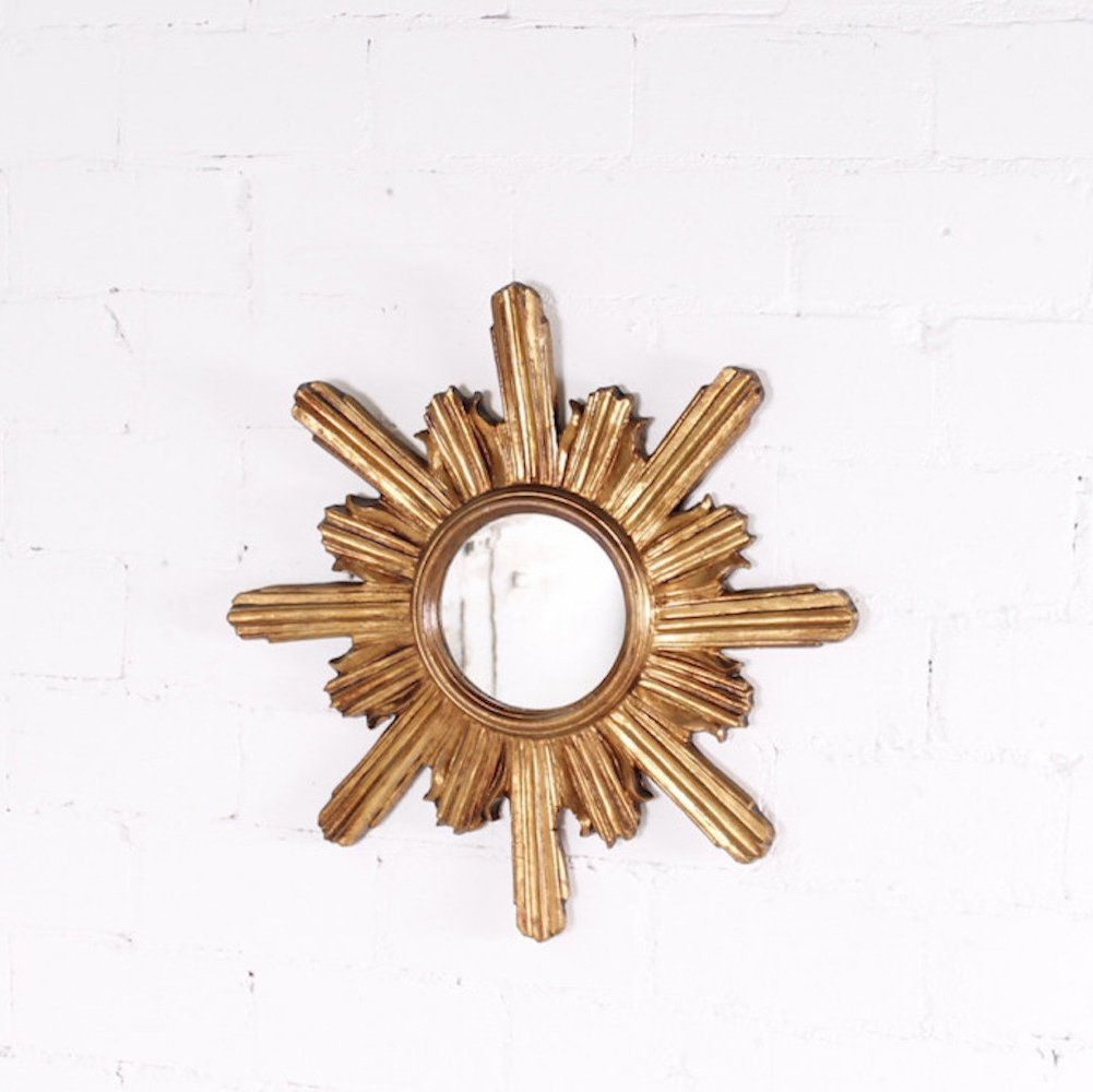 Golden Sunburst Mirror, 1970s