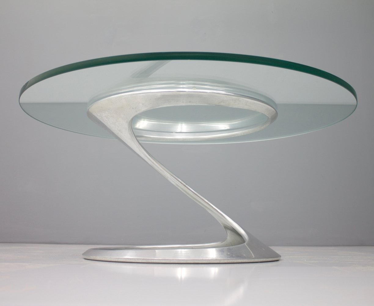 Rare Sculptural Coffee Table by Knut Hesterberg, 1974