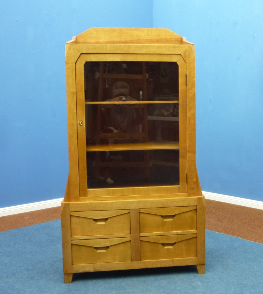 Birch Anthroposophical Drawers & Showcases Cabinet, 1920s