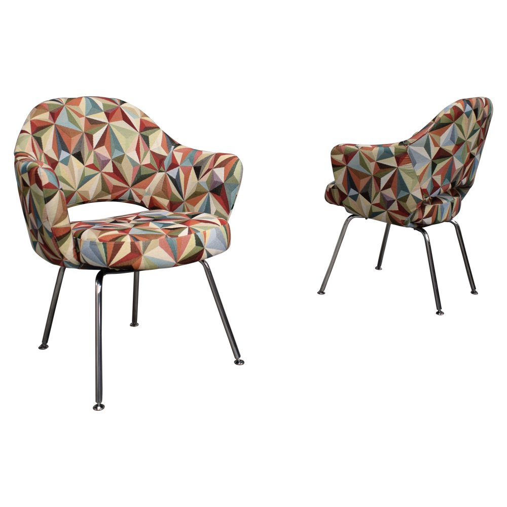 Pair of arm chairs by Eero Saarinen for Knoll, USA 1960s